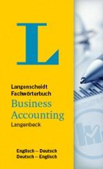 Langenscheidt Wörterbuch Englisch Deutsch Business Accounting in Fachwörterbücher
